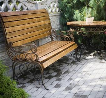 Кованые скамейки и мебель №36