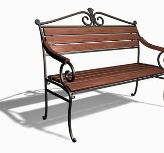 Кованые скамейки и мебель №1