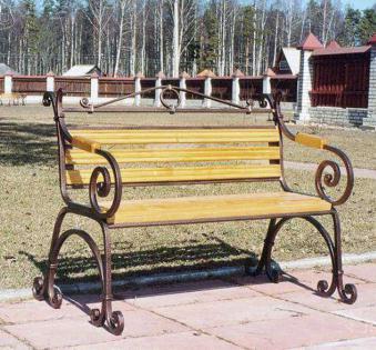Кованые скамейки и мебель №3