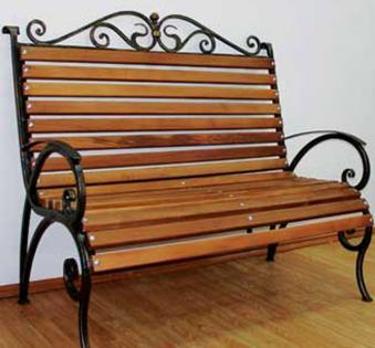 Кованые скамейки и мебель №4