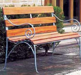 Кованые скамейки и мебель №5