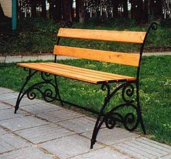 Кованые скамейки и мебель №6