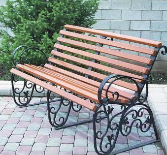 Кованые скамейки и мебель №52