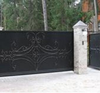 Уличные ворота №12