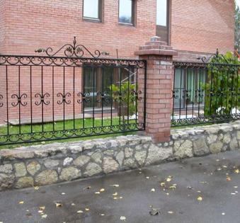 Кованый забор №13