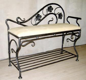 Кованые скамейки и мебель №13