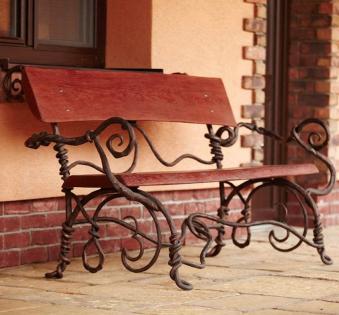 Кованые скамейки и мебель №14