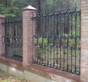 Кованый забор №14