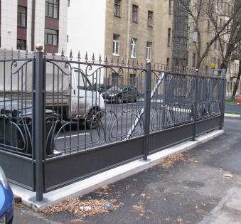 Кованый забор №52