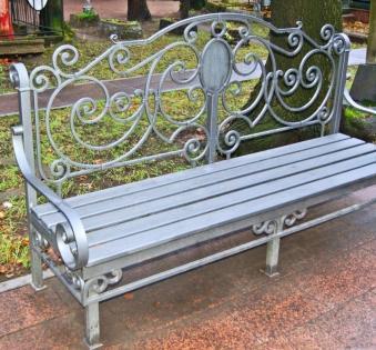 Кованые скамейки и мебель №15