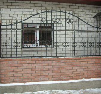 Кованый забор №16