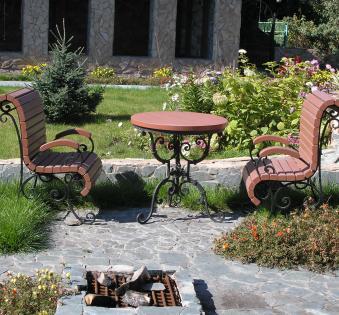 Кованые скамейки и мебель №54