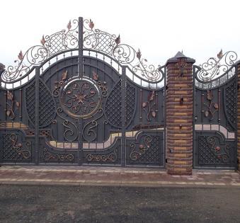 Кованые ворота №17