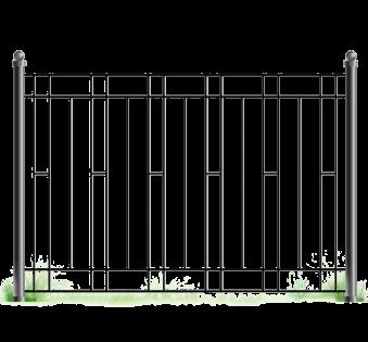 Кованый забор №55