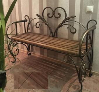 Кованые скамейки и мебель №17