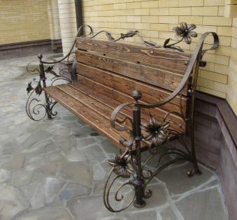 Кованые скамейки и мебель №18