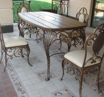 Кованые скамейки и мебель №19