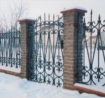 Кованый забор №24