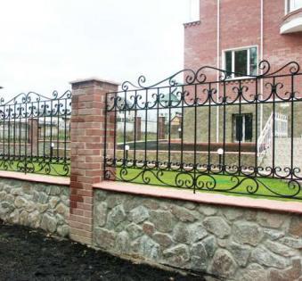 Кованый забор №25