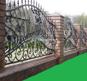 Кованый забор №61