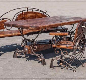 Кованые скамейки и мебель №22