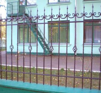 Кованый забор №26
