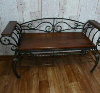 Кованые скамейки и мебель №23
