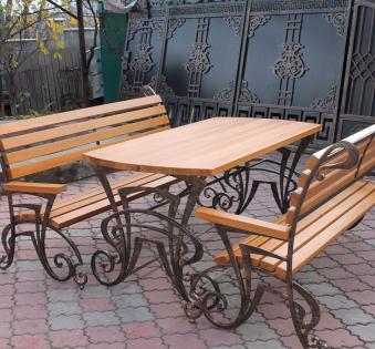 Кованые скамейки и мебель №24