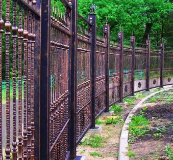 Кованый забор №63