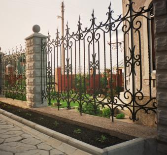 Кованый забор №28