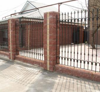 Кованый забор №31