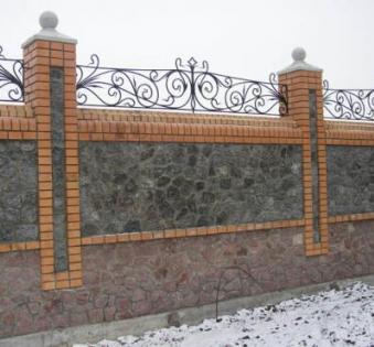 Кованый забор №33