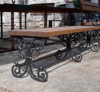 Кованые скамейки и мебель №55