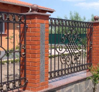 Кованый забор №70