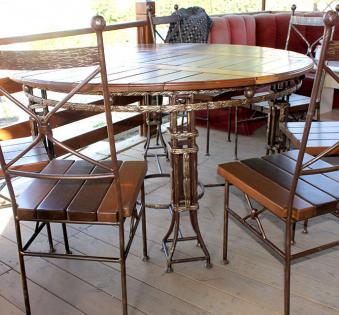 Кованые скамейки и мебель №31