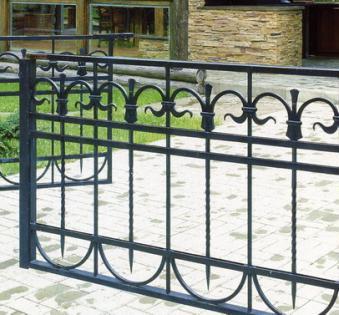 Кованый забор №35