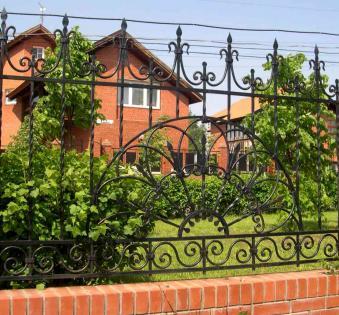 Кованый забор №71
