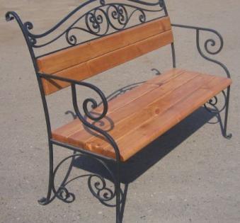 Кованые скамейки и мебель №32