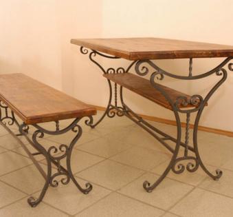 Кованые скамейки и мебель №35