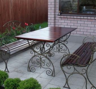 Кованые скамейки и мебель №37