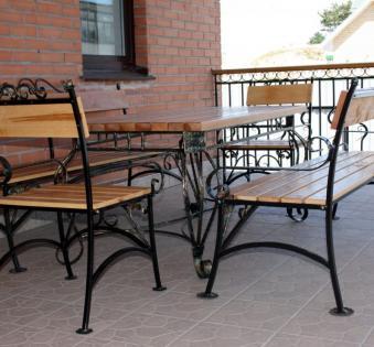 Кованые скамейки и мебель №38