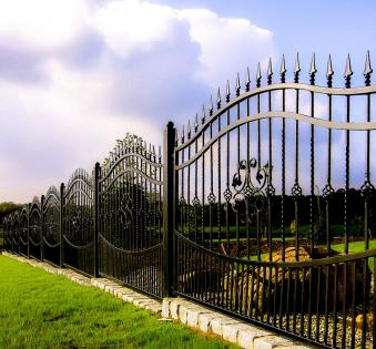 Кованый забор №75