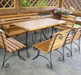 Кованые скамейки и мебель №40