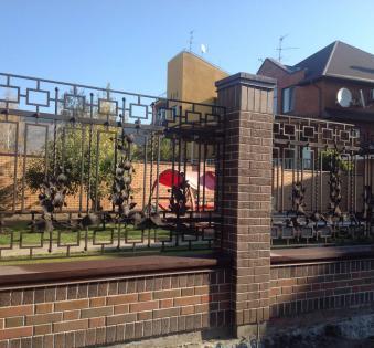 Кованый забор №43