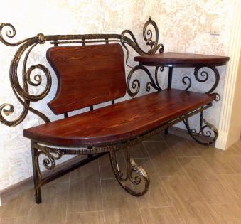 Кованые скамейки и мебель №7