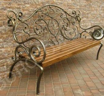 Кованые скамейки и мебель №42