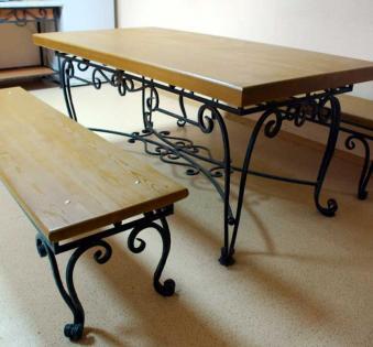 Кованые скамейки и мебель №43