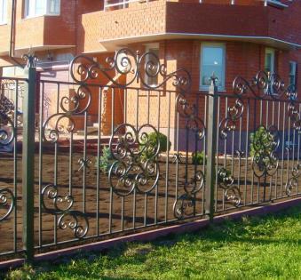 Кованый забор №77