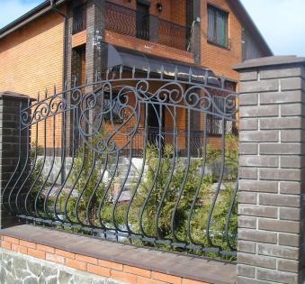 Кованый забор №78