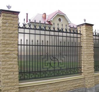 Кованый забор №84